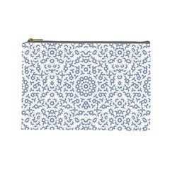 Radial Mandala Ornate Pattern Cosmetic Bag (large)