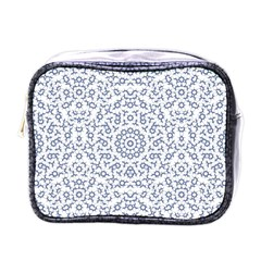 Radial Mandala Ornate Pattern Mini Toiletries Bags