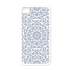 Radial Mandala Ornate Pattern Apple Iphone 4 Case (white)
