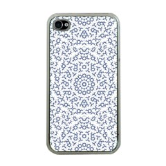 Radial Mandala Ornate Pattern Apple Iphone 4 Case (clear)