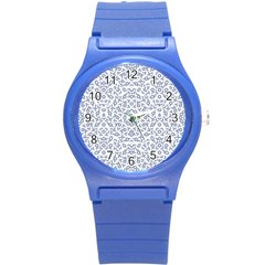 Radial Mandala Ornate Pattern Round Plastic Sport Watch (s)