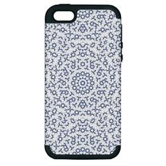 Radial Mandala Ornate Pattern Apple Iphone 5 Hardshell Case (pc+silicone)
