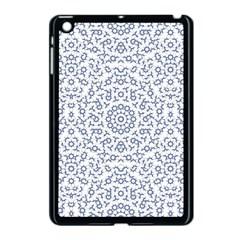 Radial Mandala Ornate Pattern Apple Ipad Mini Case (black)