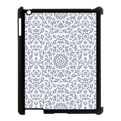Radial Mandala Ornate Pattern Apple Ipad 3/4 Case (black)