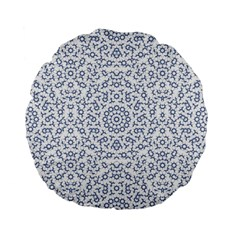 Radial Mandala Ornate Pattern Standard 15  Premium Flano Round Cushions