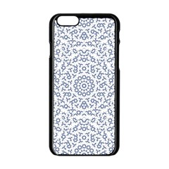 Radial Mandala Ornate Pattern Apple Iphone 6/6s Black Enamel Case