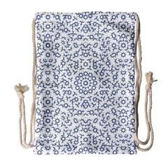 Radial Mandala Ornate Pattern Drawstring Bag (large)