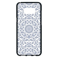 Radial Mandala Ornate Pattern Samsung Galaxy S8 Plus Black Seamless Case