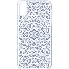 Radial Mandala Ornate Pattern Apple Iphone X Seamless Case (white)
