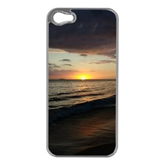 Sunset On Rincon Puerto Rico Apple Iphone 5 Case (silver)