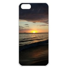 Sunset On Rincon Puerto Rico Apple Iphone 5 Seamless Case (white)