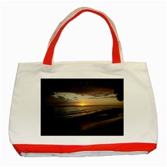Sunset On Rincon Puerto Rico Classic Tote Bag (red)