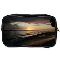 Sunset On Rincon Puerto Rico Toiletries Bags 2 Side