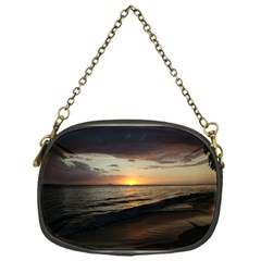 Sunset On Rincon Puerto Rico Chain Purses (one Side)