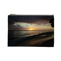 Sunset On Rincon Puerto Rico Cosmetic Bag (large)