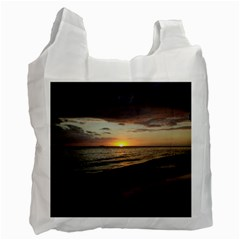 Sunset On Rincon Puerto Rico Recycle Bag (two Side)