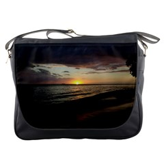 Sunset On Rincon Puerto Rico Messenger Bags