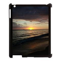 Sunset On Rincon Puerto Rico Apple Ipad 3/4 Case (black)