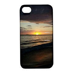 Sunset On Rincon Puerto Rico Apple Iphone 4/4s Hardshell Case With Stand