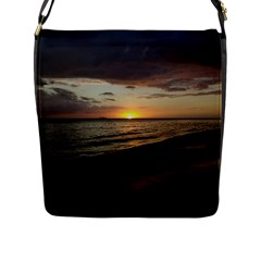 Sunset On Rincon Puerto Rico Flap Messenger Bag (l)