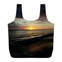 Sunset On Rincon Puerto Rico Full Print Recycle Bags (l)