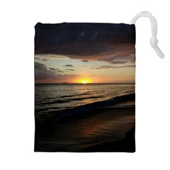 Sunset On Rincon Puerto Rico Drawstring Pouches (extra Large)