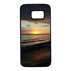 Sunset On Rincon Puerto Rico Samsung Galaxy S7 Black Seamless Case