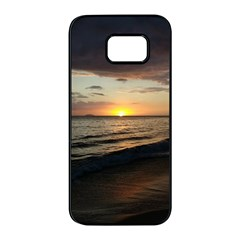 Sunset On Rincon Puerto Rico Samsung Galaxy S7 Edge Black Seamless Case