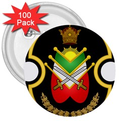 Shield Of The Imperial Iranian Ground Force 3  Buttons (100 Pack)