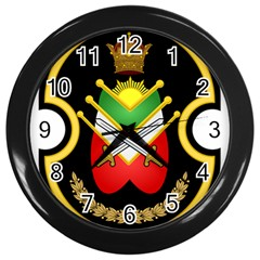 Shield Of The Imperial Iranian Ground Force Wall Clocks (black)