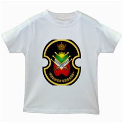 Shield Of The Imperial Iranian Ground Force Kids White T Shirts