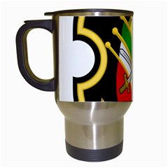 Shield Of The Imperial Iranian Ground Force Travel Mugs (white)
