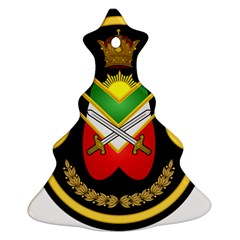 Shield Of The Imperial Iranian Ground Force Christmas Tree Ornament (two Sides)