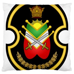 Shield Of The Imperial Iranian Ground Force Large Cushion Case (two Sides)