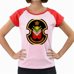 Shield Of The Imperial Iranian Ground Force Women s Cap Sleeve T Shirt