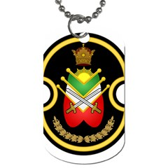 Shield Of The Imperial Iranian Ground Force Dog Tag (two Sides)