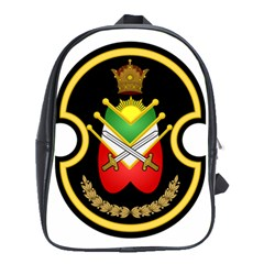 Shield Of The Imperial Iranian Ground Force School Bag (large)