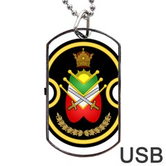 Shield Of The Imperial Iranian Ground Force Dog Tag Usb Flash (two Sides)