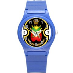 Shield Of The Imperial Iranian Ground Force Round Plastic Sport Watch (s)
