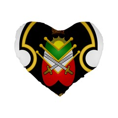 Shield Of The Imperial Iranian Ground Force Standard 16  Premium Heart Shape Cushions