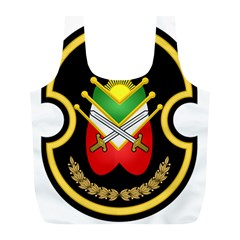 Shield Of The Imperial Iranian Ground Force Full Print Recycle Bags (l)