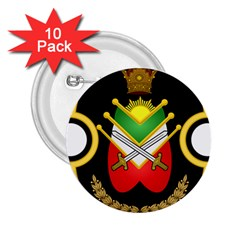 Shield Of The Imperial Iranian Ground Force 2 25  Buttons (10 Pack)