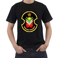 Shield Of The Imperial Iranian Ground Force Men s T Shirt (black) (two Sided)