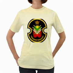 Shield Of The Imperial Iranian Ground Force Women s Yellow T Shirt
