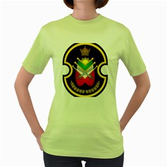 Shield Of The Imperial Iranian Ground Force Women s Green T Shirt