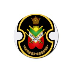 Shield Of The Imperial Iranian Ground Force Rubber Coaster (round)