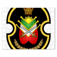 Shield Of The Imperial Iranian Ground Force Rectangular Jigsaw Puzzl