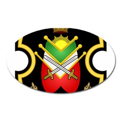 Shield Of The Imperial Iranian Ground Force Oval Magnet