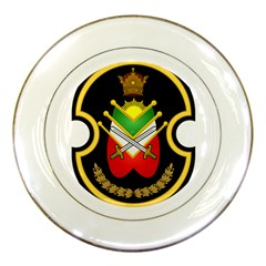 Shield Of The Imperial Iranian Ground Force Porcelain Plates