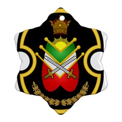 Shield Of The Imperial Iranian Ground Force Snowflake Ornament (two Sides)